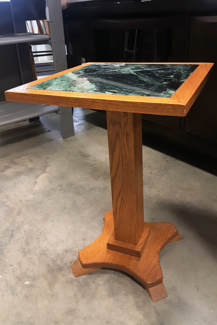 SALE Wood/marble plant stand