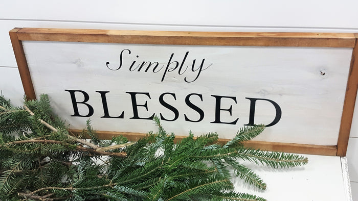 """Simply Blessed""  Wood sign"