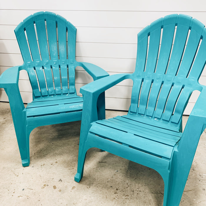 Patio Teal Chairs