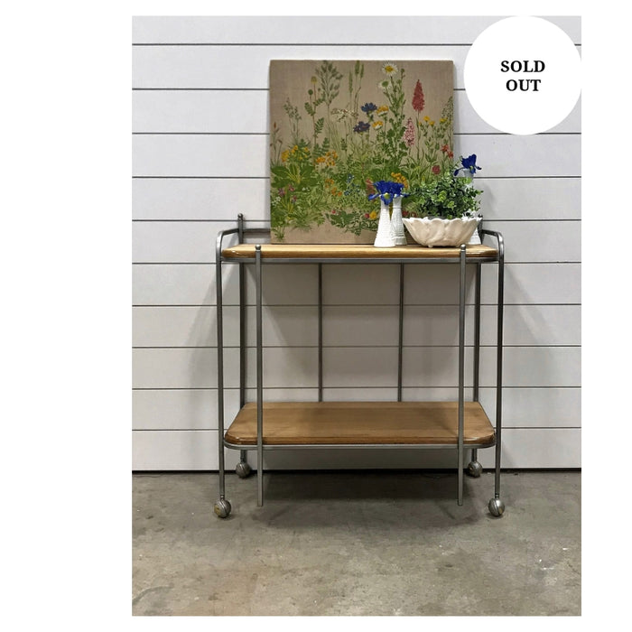 Natural Bar/Kitchen cart