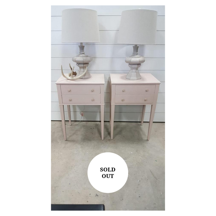 Blush Pink side table/ nightstands