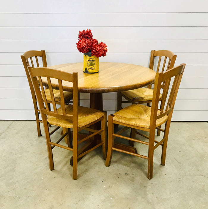 Small Wood Dining Table and Chairs Set