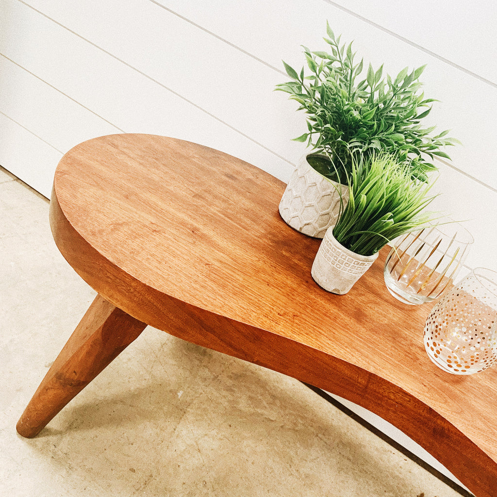 Modern Kidney Wood Coffee Table
