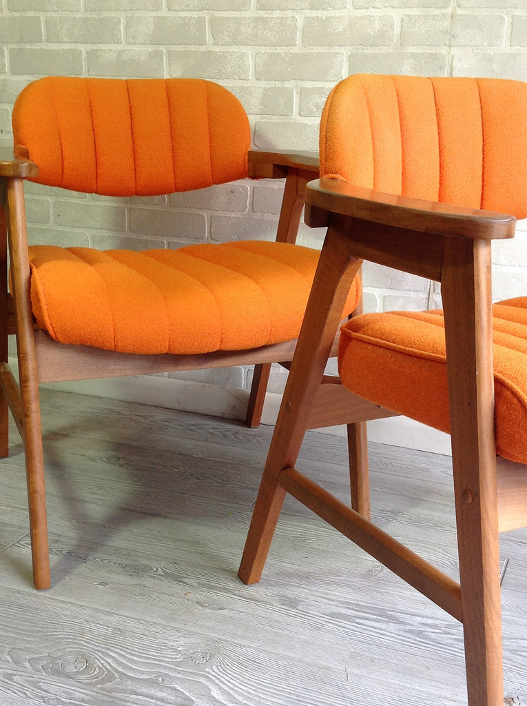 Mid century orange seating