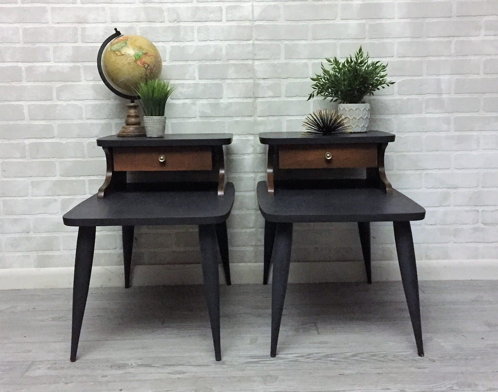 Mid-Century Modern Charcoal  Tables - Sold Individually