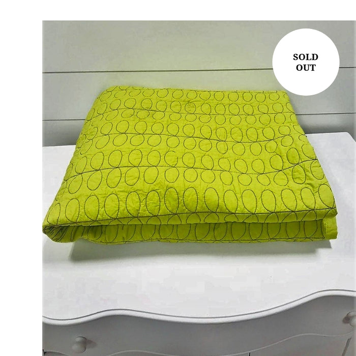 Lime green throw- accessory