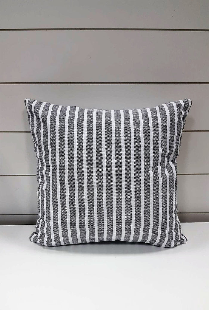 White & Grey Stripes Pillow accessory
