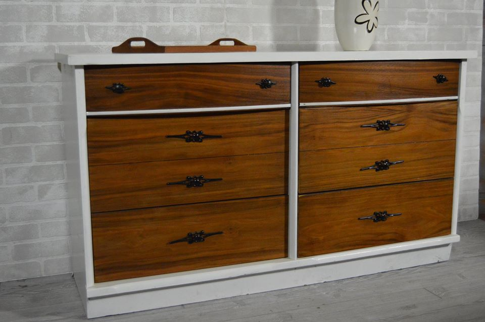 White and Wood Dresser