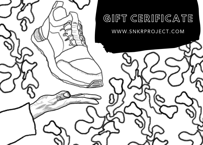 gift certificate for men's and women's luxury sneakers