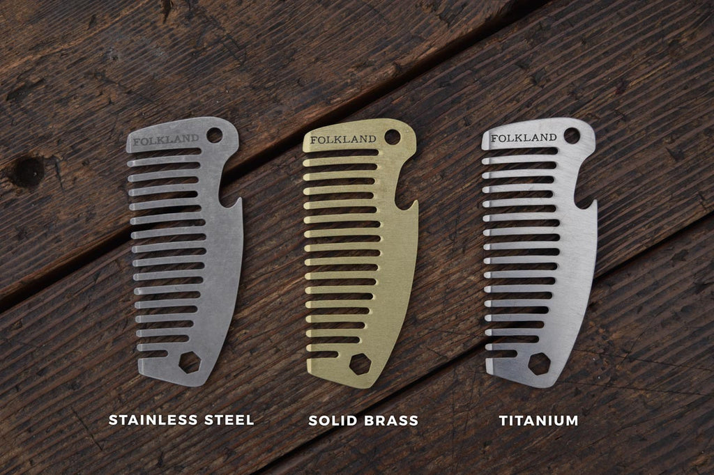 Metal Pocket Combs, Steel Brass and Titanium