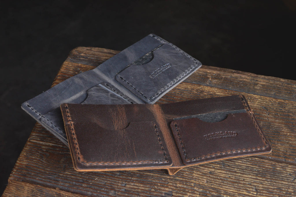Folkland Bifold Leather Wallet Quality USA made compact minimal durable goods