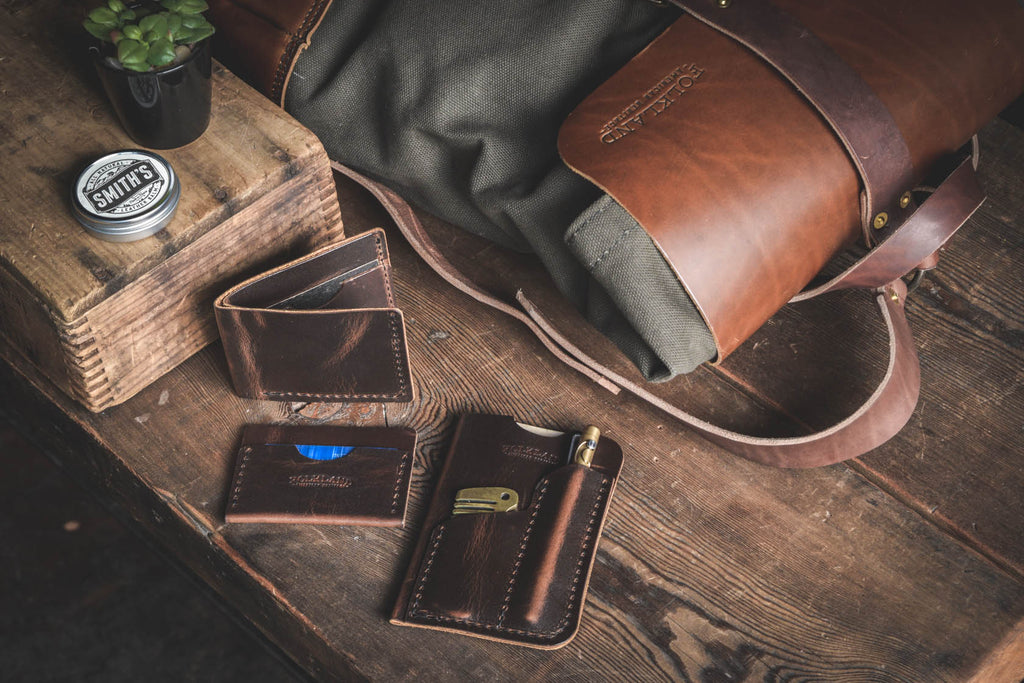Folkland Leather Goods quality everyday carry durable wallets and dry goods