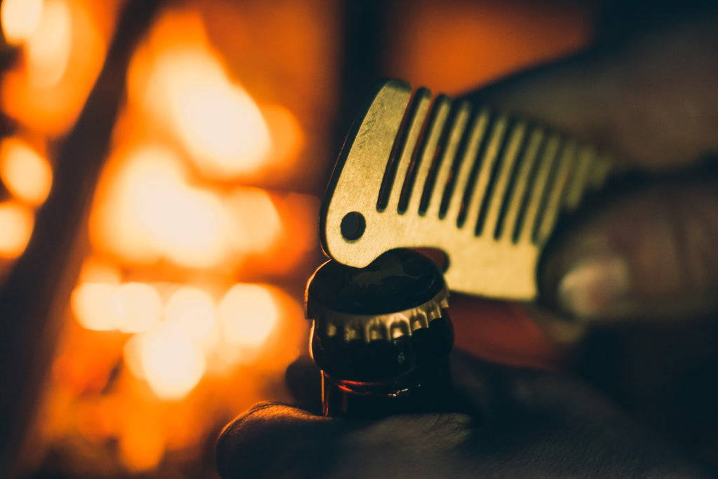 Folkland Bottle Opener Brass Beard Comb