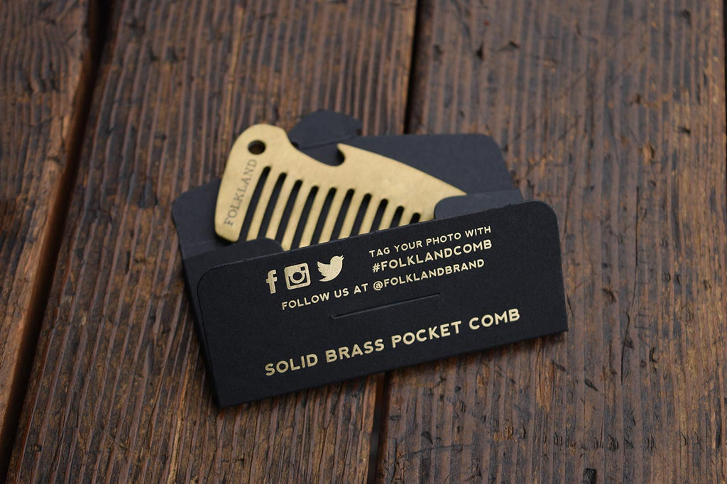 Solid Brass Pocket Comb with Bottle Opener