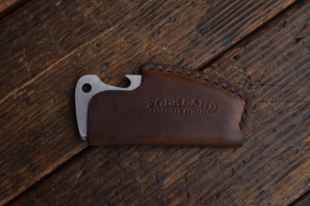 Ultra-light Titanium Pocket Comb with Bottle Opener and Leather Sheath