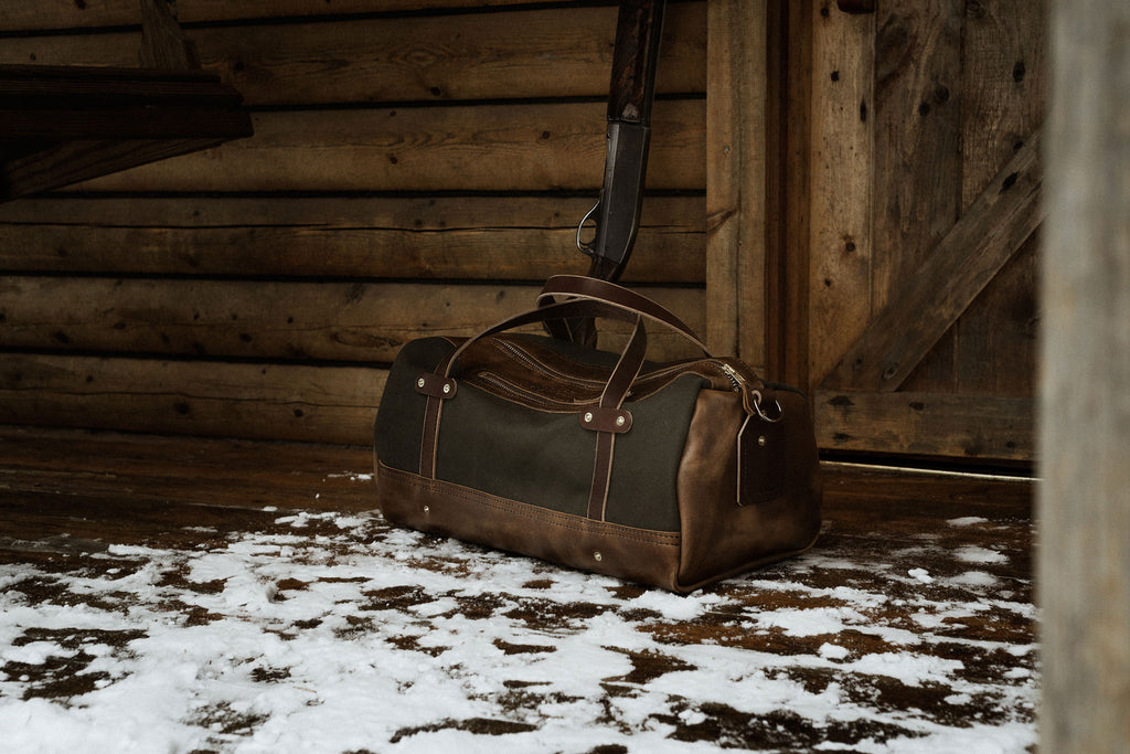 Rugged Folkland Weekender Duffel Bag for travel and outdoor lifestyle