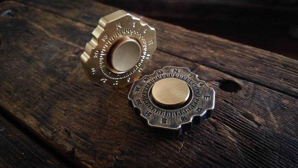 Lodestar Spinner Fidget Toy Solid Brass USA Made Folkland