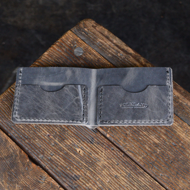 No. 8 Bifold Wallet Gray