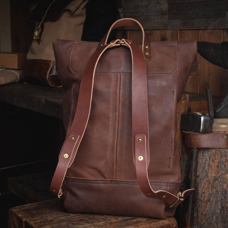 Folkland Rolltop Dark Brown Leather