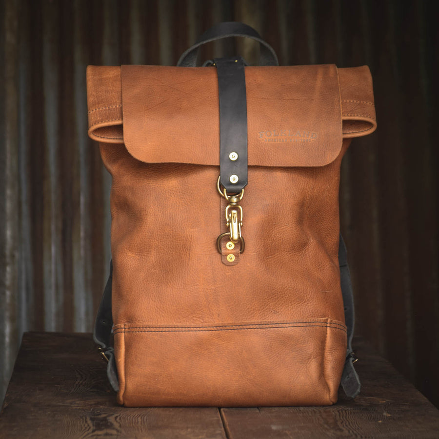 Folkland Rolltop Light Brown Leather