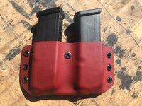 Glock 9/40 - Outside the Waist Band (OWB) Double Magazine Carrier - Kydex Magazine Carrier - Redleg Tactical