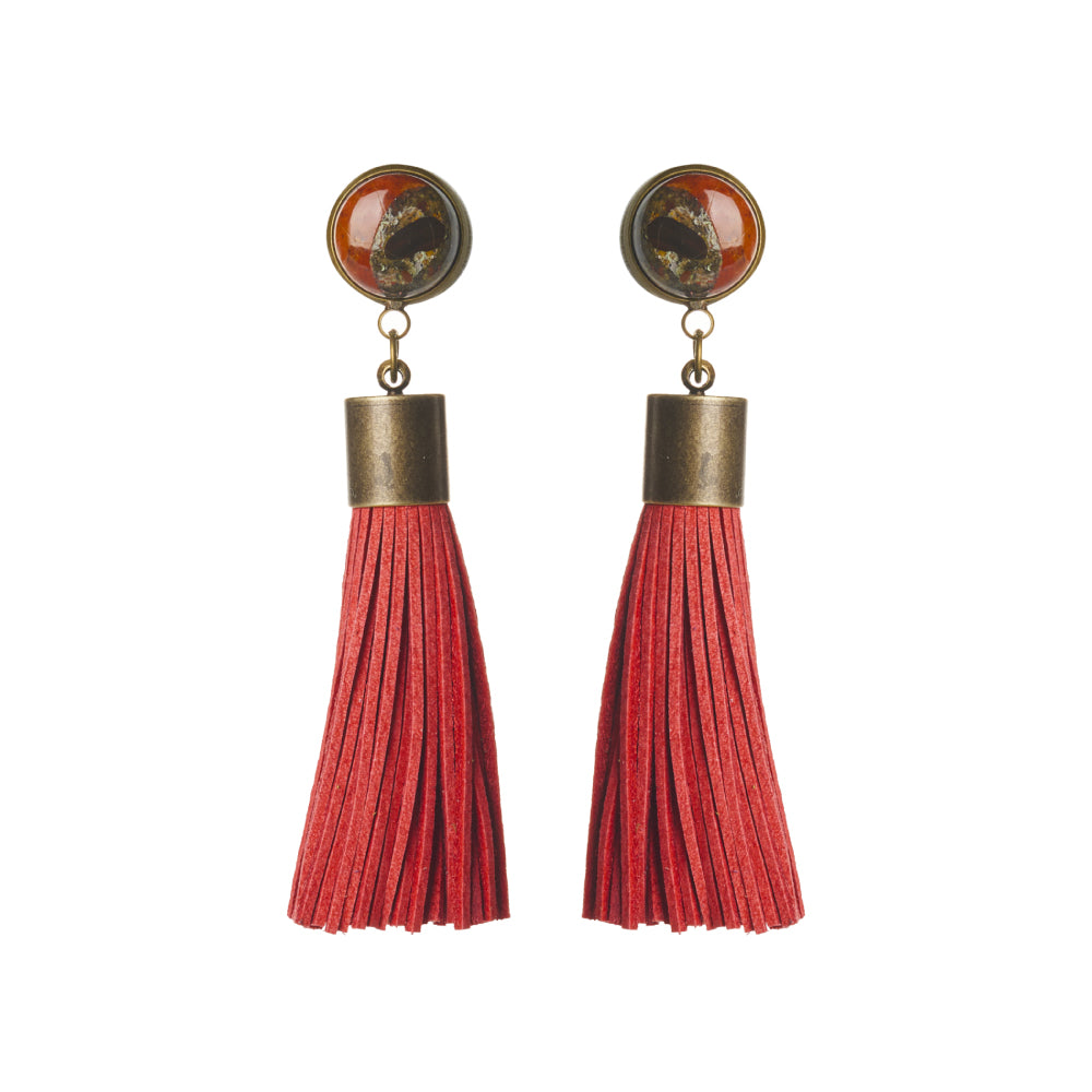 Conglomerate Tassel Earrings
