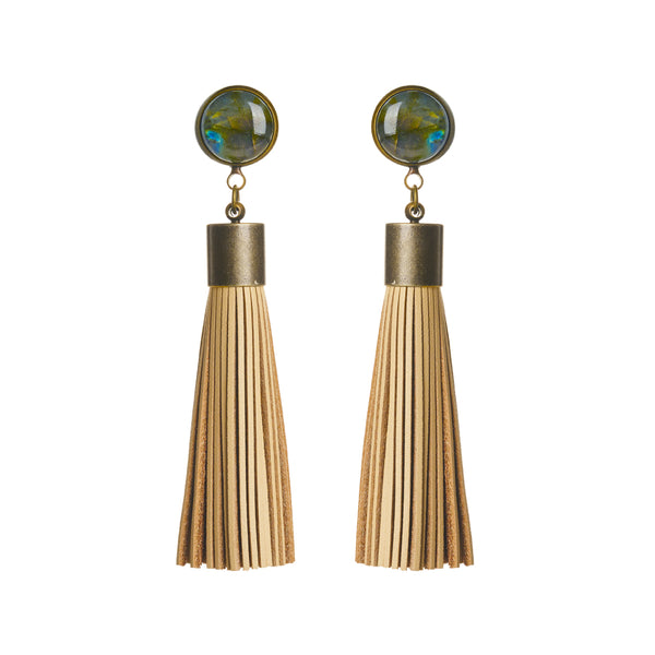 Labradorite Tassel Earrings