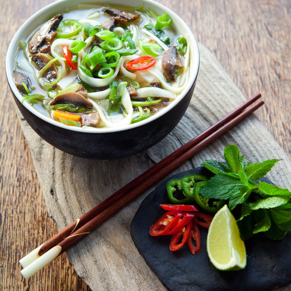 "30-Minute Veggie Pho with Daikon ""Noodles"""