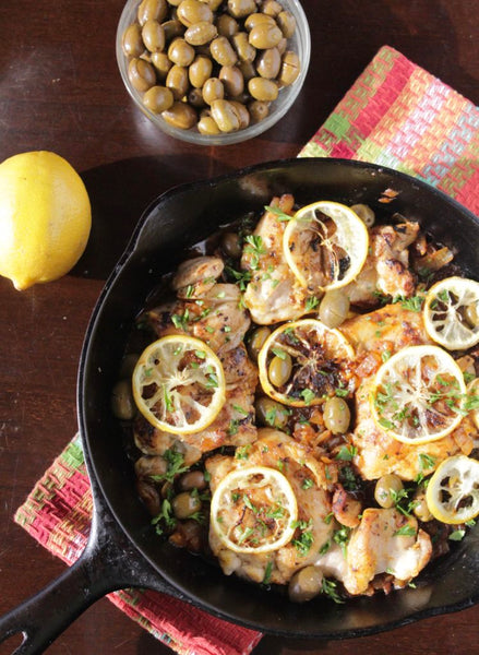One Pan (Moroccan-inspired) Lemon Olive Chicken