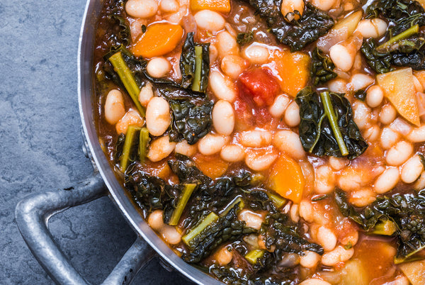 tuscan bean soup with kale butternut squash red pepper