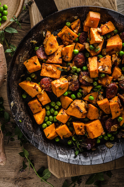 sweet potato bacon hash