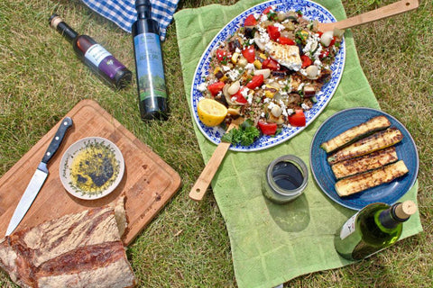 mediterranean inspired picnic lunch healthy harvest olive oil