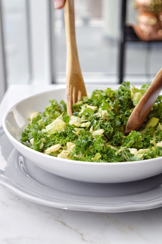 honey mustard brussel sprout kale salad