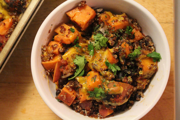 sweet potato black bean chili casserole