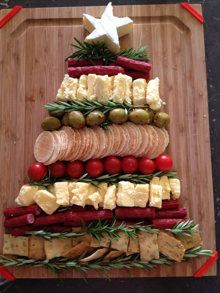 holiday appetizer antipasto cheese plate