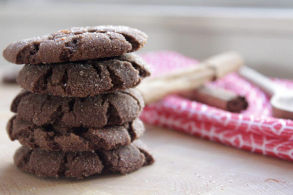 healthy harvest vegan hot chocolate snickerdoodle cookies