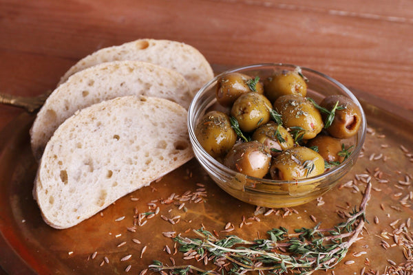 healthy harvest marinated olives