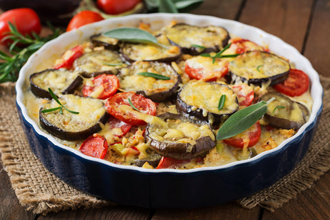 one pot eggplant rice casserole
