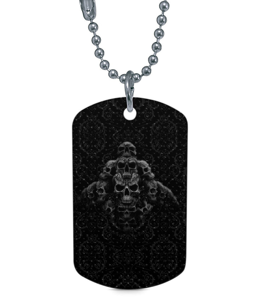 Goth Topics Skull Pile Dog Tag