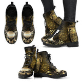 Goth Topics Women's Steampunk Heart Leather Boots