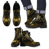 Goth Topics Men's Steampunk Engines Revving Leather Boots