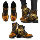 Goth Topics Women's Steampunk OctoSteam Leather Boots