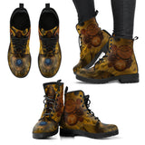 Goth Topics Women's Steampunk Ripped Gear Leather Boots