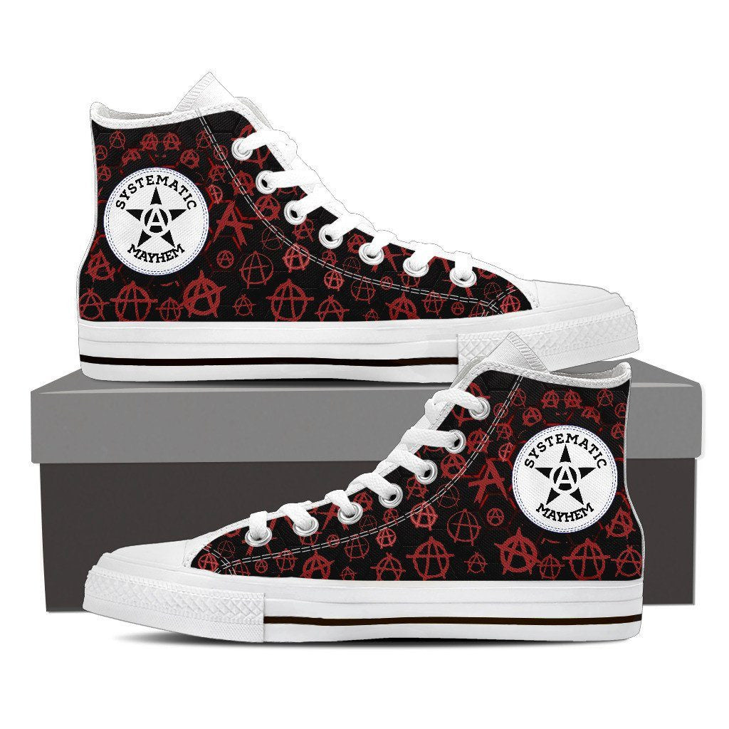 Men's Punk Systematic Mayhem High Top Canvas Shoes