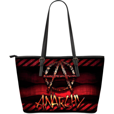 Goth Topics Anarchy Large Leather Tote Bag