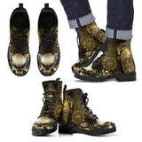 Goth Topics Men's Steampunk Heart Leather Boots