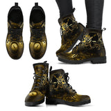Goth Topics Women's Steampunk Engines Revving Leather Boots