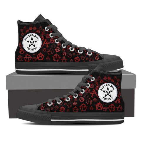 Goth Topics Women's Punk Systematic Mayhem High Top Canvas Shoes