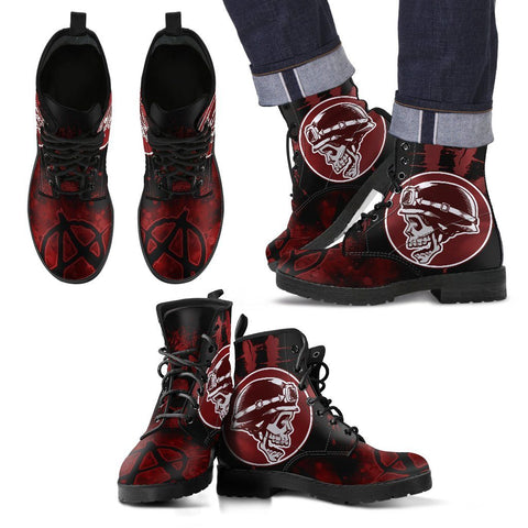 Goth Topics Men's Motorcycle Anarchy Leather Boots
