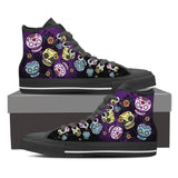 Goth Topics Women's Purple Sugar Skull High Top Canvas Shoes